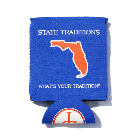 Florida Gainesville Gameday Koozie Blue
