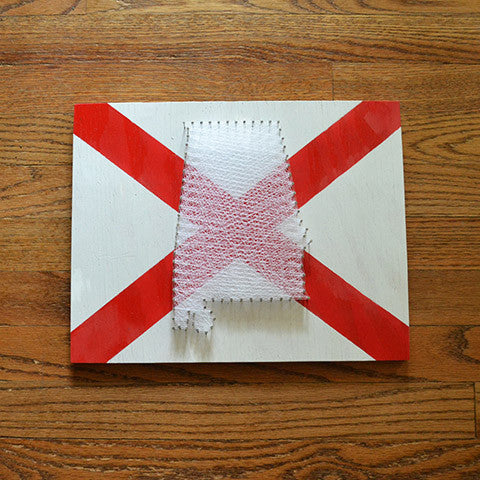 Alabama Flag String Art