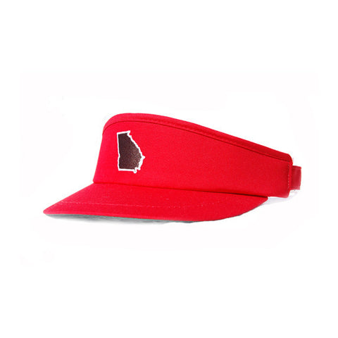 Georgia Athens Gameday Golf Visor Red