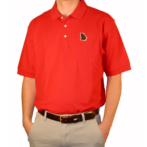 Georgia Athens Gameday Polo Red
