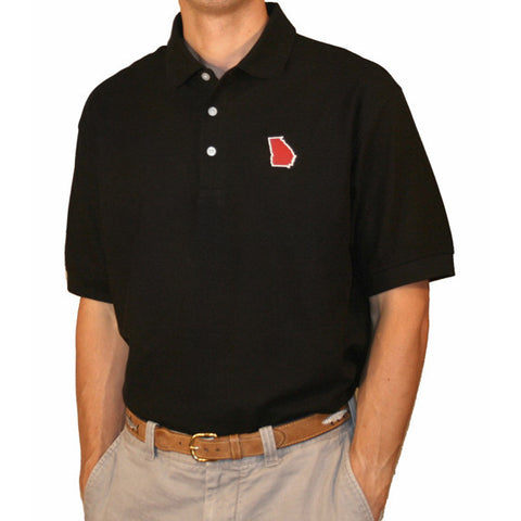 Georgia Athens Gameday Polo Black