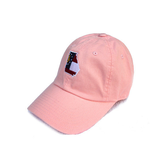 Georgia Classic Adjustable Pink Hat. Georgia Traditional Hat, Georgia Cap, Peach State Pride. Breast Cancer Awareness, Ladies Hat, Womens Hat, Girls Hat, Pink Hat, Pink Georgia