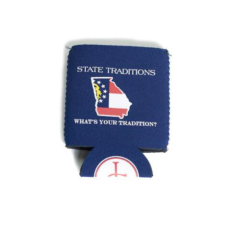Georgia Traditional Koozie Navy