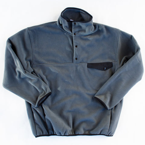 Fleece Pullover Black and Grey