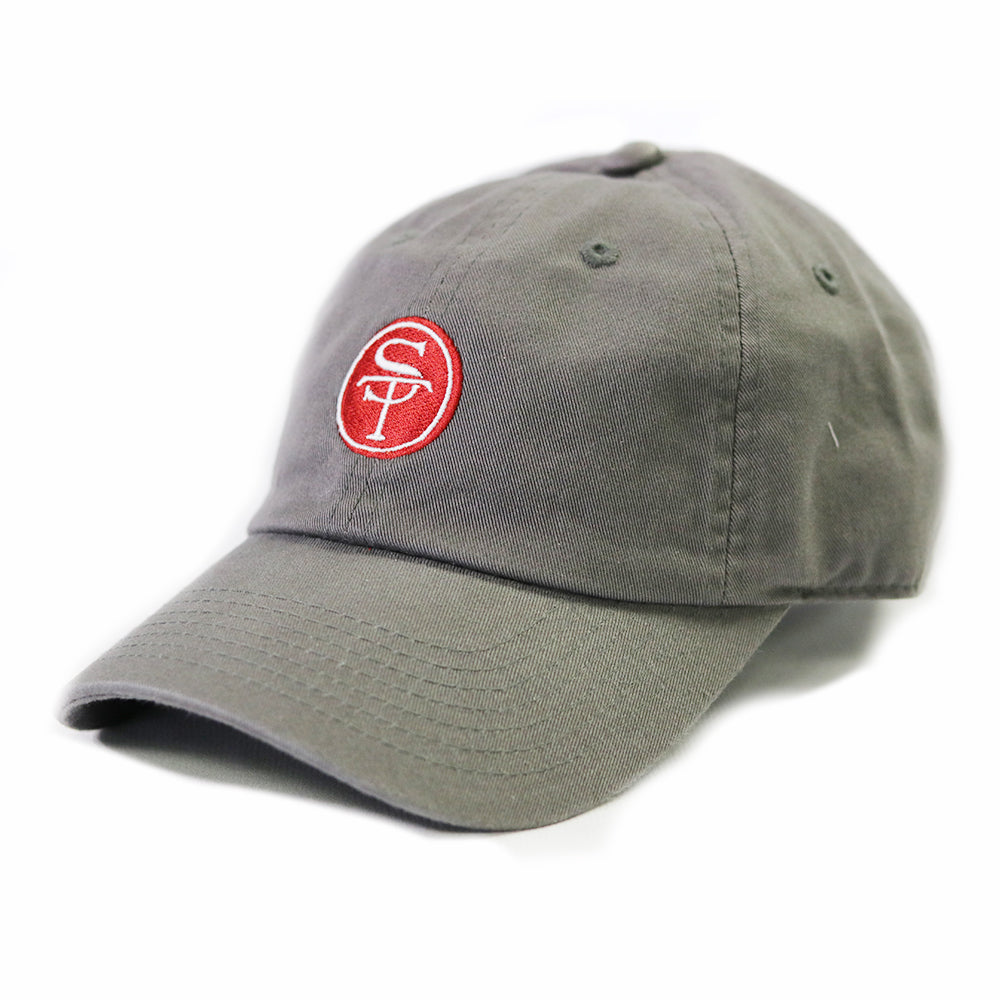 ST Logo Hat Grey and Crimson