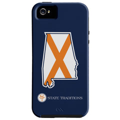 Alabama Auburn Traditional iPhone Case Navy