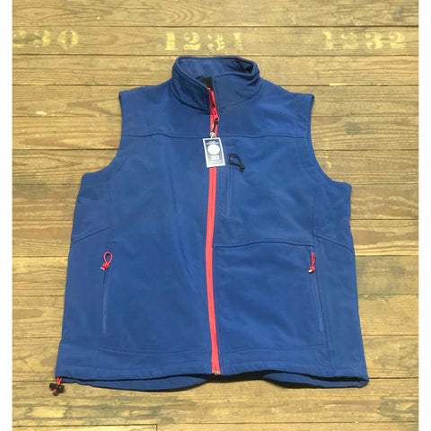 Soft Shell Vest Navy with Red Trim