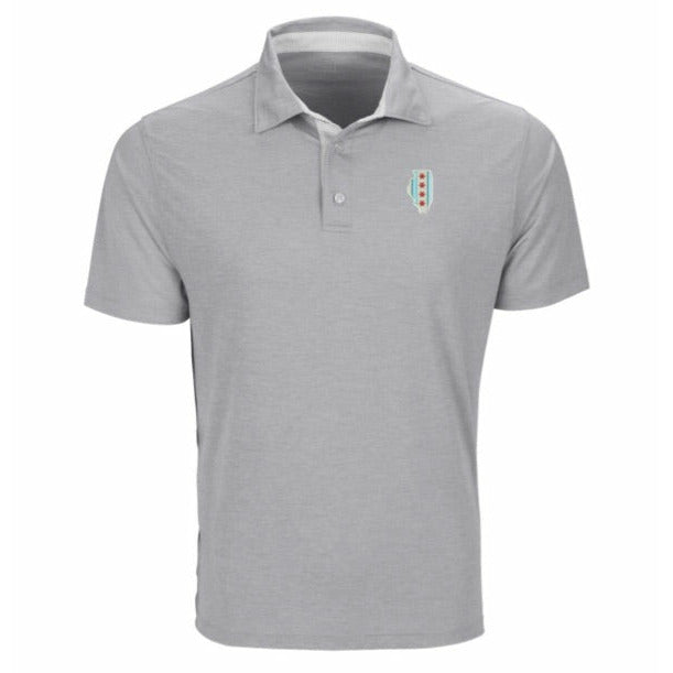 Chicago Traditional, Chicago Flag Polo, Grey Polo, Mens Polo, 4 way stretch polo, Signature Polo, ST Polo, Windy City Polo, Chi Town Polo, Chicago Flag