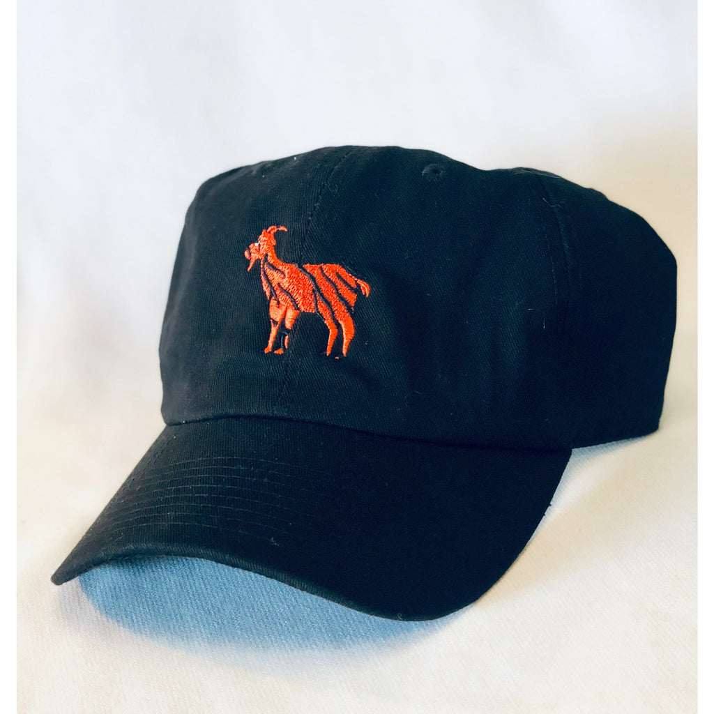 G.O.A.T, Tiger = Goat, Golf Greats, Black Hat, Cap, Goat Hat, Golf Hat, Cotton Slouch, Tiger Hat, Tradition, One size, adjustable