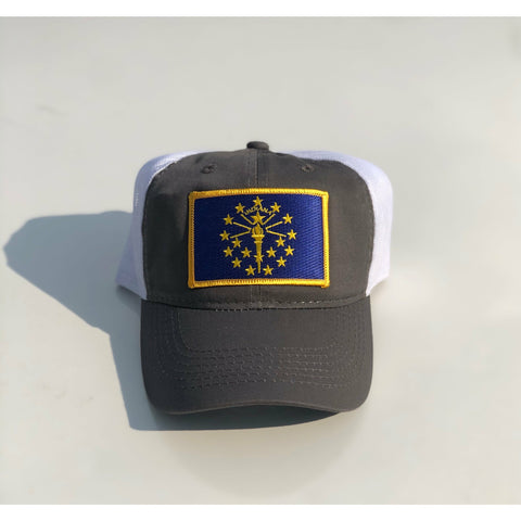 Indiana Flag Trucker Hat Navy