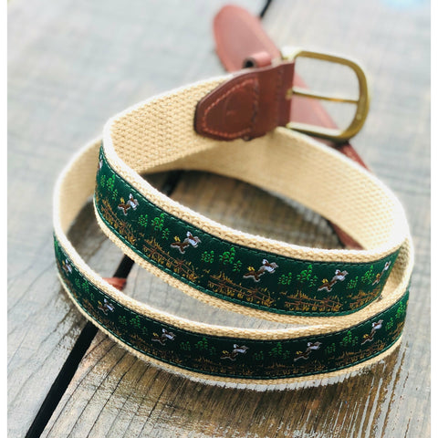 Quail Hunt Ribbon Belt