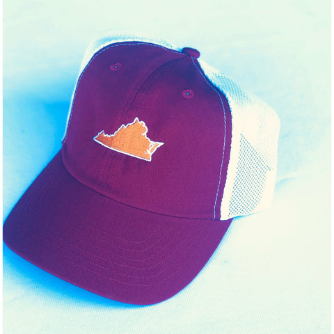 Virginia Blacksburg Gameday Trucker Hat Maroon