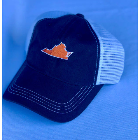 Virginia Charlottesville Gameday Trucker Hat Navy