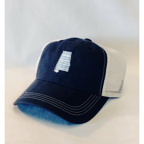 Alabama Stripes Trucker Hat Navy