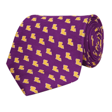 Louisiana Baton Rouge Gameday Tie Purple