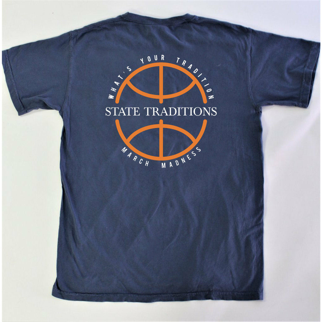 March Madness T-Shirt Navy and Orange