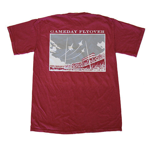 State Traditions Gameday Flyover T-Shirt Maroon and Grey