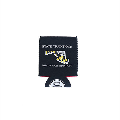 Maryland Traditional Koozie Black