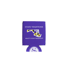 Maryland Traditional Koozie Purple