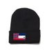 Black Beanie with Mississippi Flag Patch by State Traditions