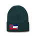 Forest Green Beanie with Mississippi Flag Patch by State Traditions