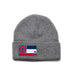 Heather Gray Beanie with Mississippi Flag Patch by State Traditions