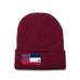 Maroon Beanie with Mississippi Flag Patch by State Traditions