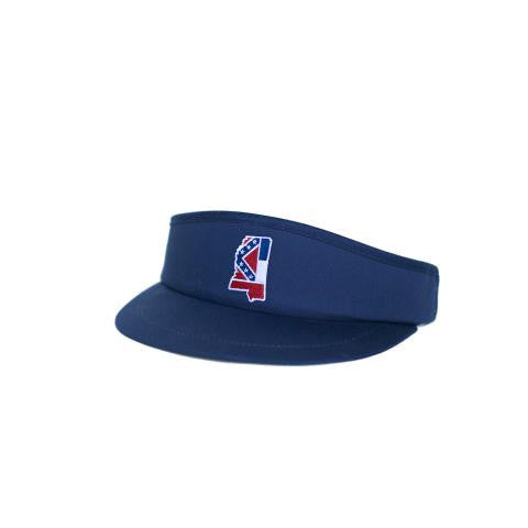 Mississippi Traditional Golf Visor Navy