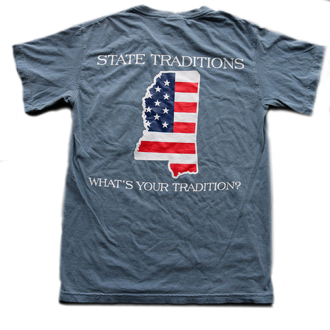 Mississippi Patriot T-Shirt Blue Jean