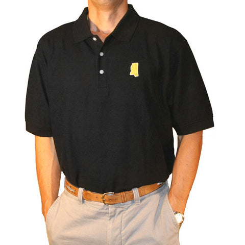Mississippi Hattiesburg Gameday Polo Black