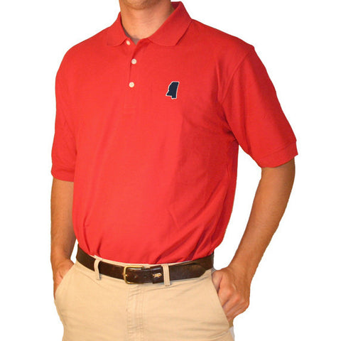 Mississippi Oxford Gameday Polo Red