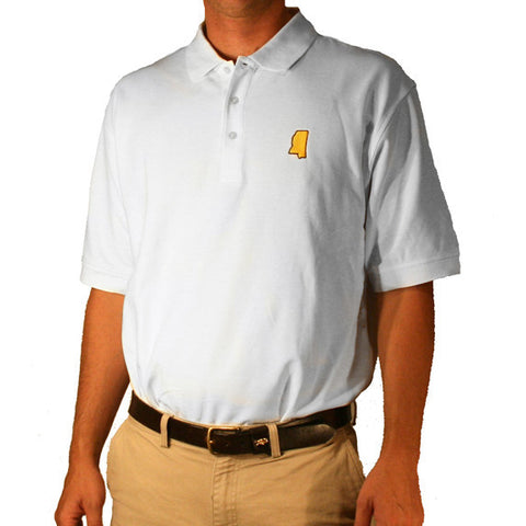 Mississippi Hattiesburg Gameday Polo White