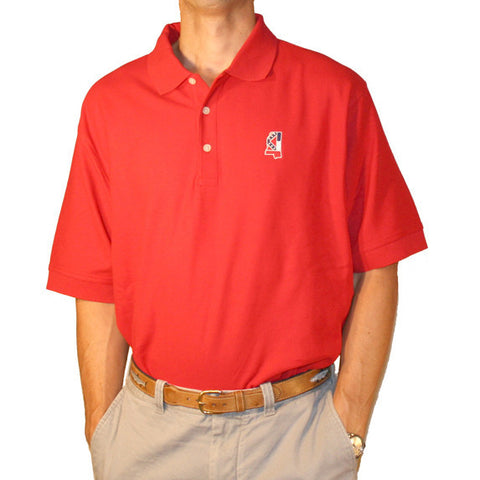 Mississippi Traditional Polo Red