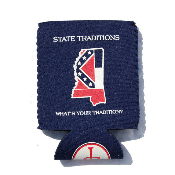 Mississippi Traditional Koozie Grey