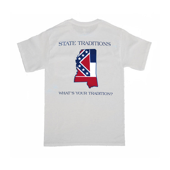 Mississippi Traditional T-Shirt White