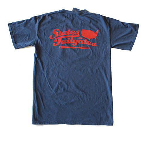 States and Tailgates T-Shirt Navy and Red