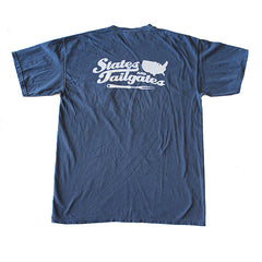 States and Tailgates T-Shirt Navy and White
