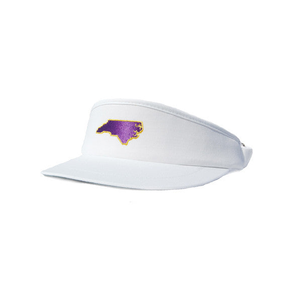North Carolina Greenville Gameday Golf Visor White