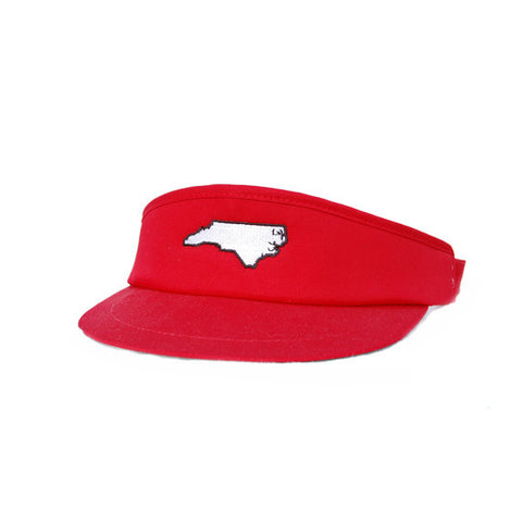 North Carolina Raleigh Gameday Golf Visor Red