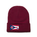 Maroon Beanie with Ohio Flag Patch by State Traditions