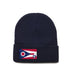 Navy Beanie with Ohio Flag Patch by State Traditions