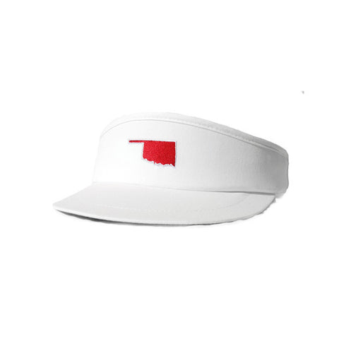 Oklahoma Norman Gameday Golf Visor White