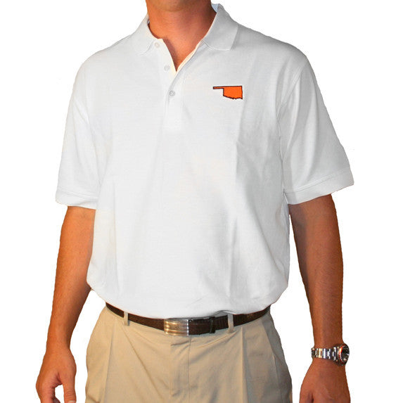 Oklahoma Stillwater Gameday Polo White