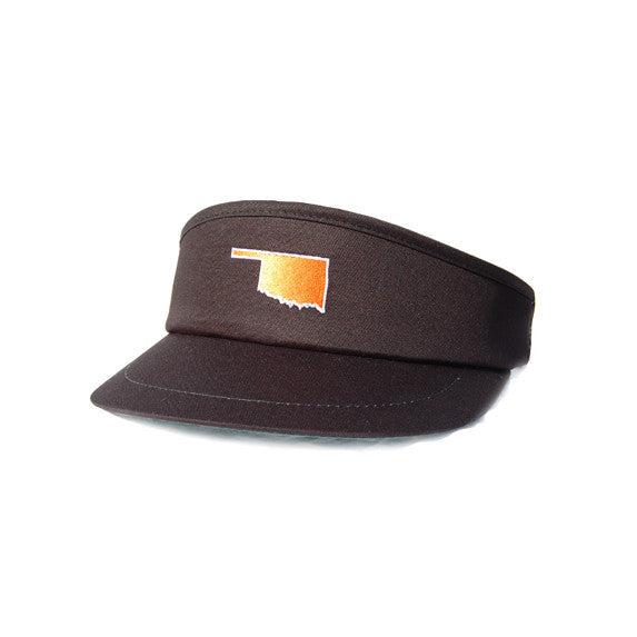 Oklahoma Stillwater Gameday Golf Visor Black