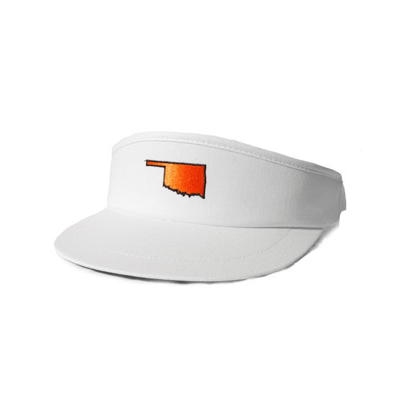 Oklahoma Stillwater Gameday Golf Visor White