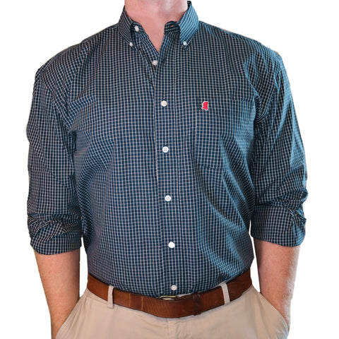 "Mississippi Oxford Gameday ""McDowell"" Buttondown"