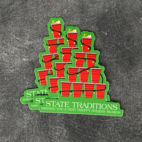 Holiday Party Cup Sticker