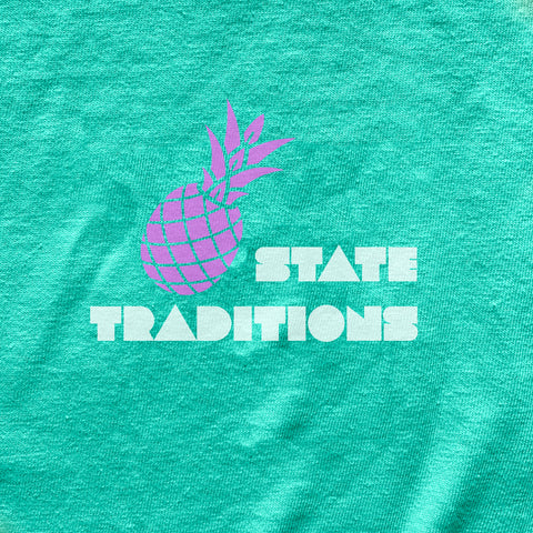 State Traditions Pineapple Tank Top Teal