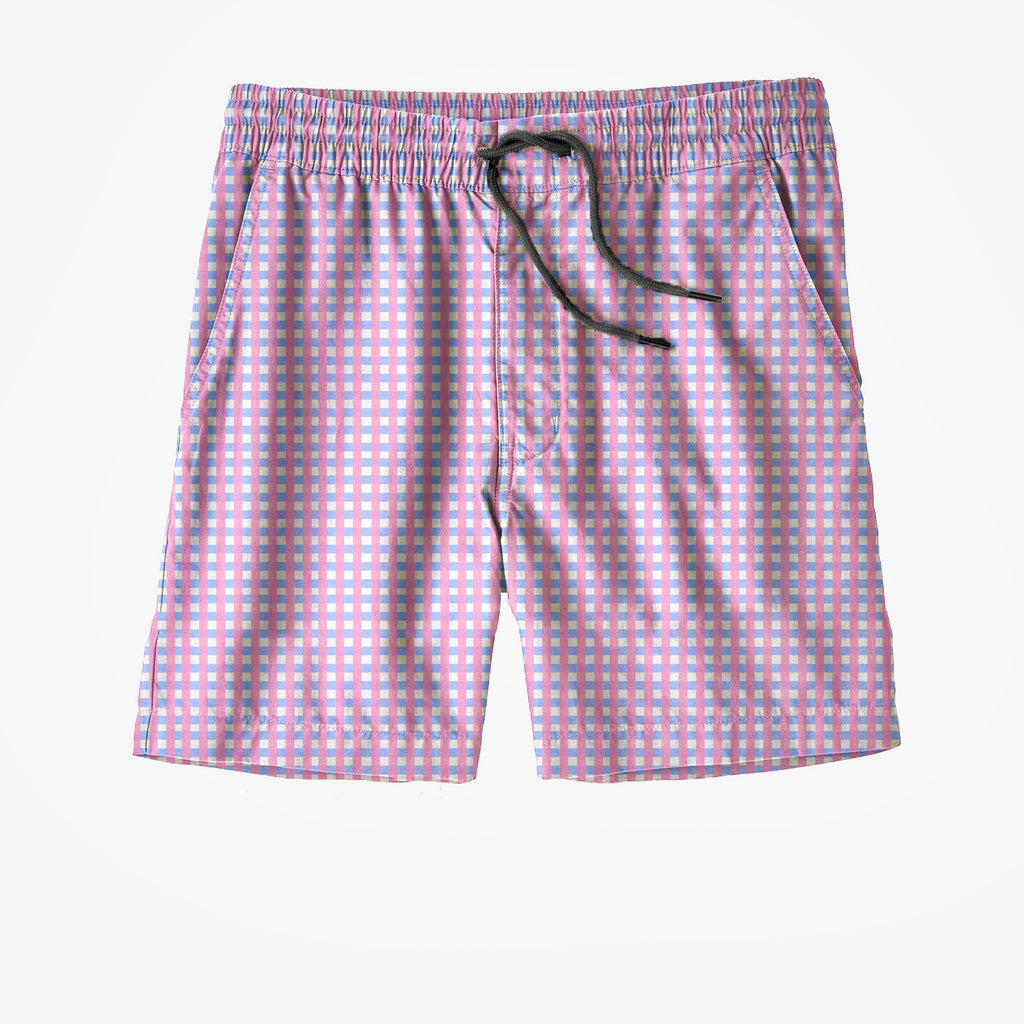 Pink and Blue Swim Trunks