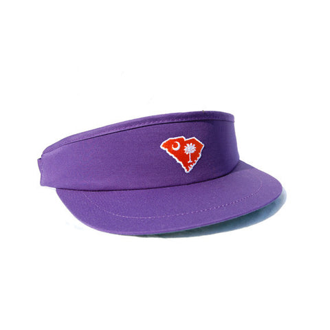 South Carolina Clemson Gameday Golf Visor Purple